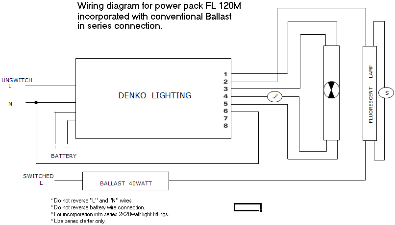 free download sa series wiring diagram denko lighting pte ltd | fl 120m / fl 140m – conventional ... exit signs series wiring diagram #6