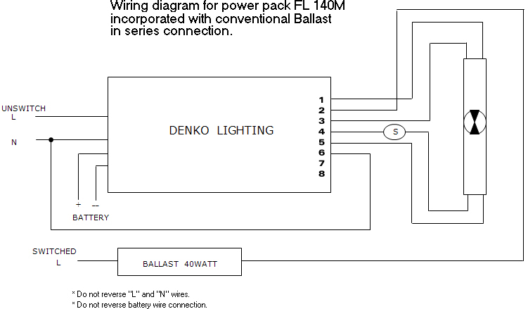 Wiring diagram conventional ballast FL 140M power sentry ps1400 wiring diagram wiring diagram and schematic ps300 emergency ballast wiring diagram at gsmportal.co
